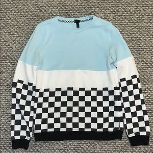 boys striped and checkered sweater